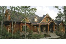 Home Plan Design - Ranch Exterior - Front Elevation Plan #54-313