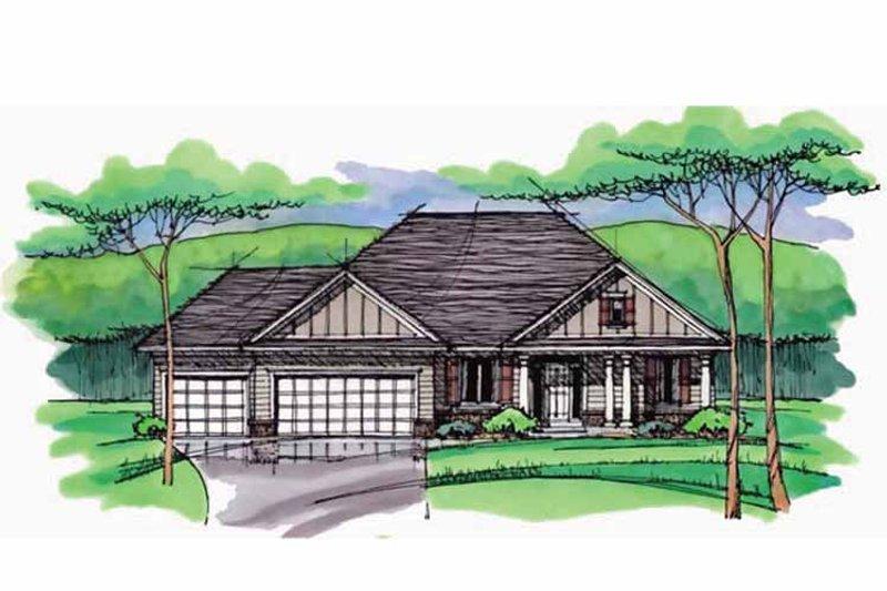 European Exterior - Front Elevation Plan #51-969 - Houseplans.com