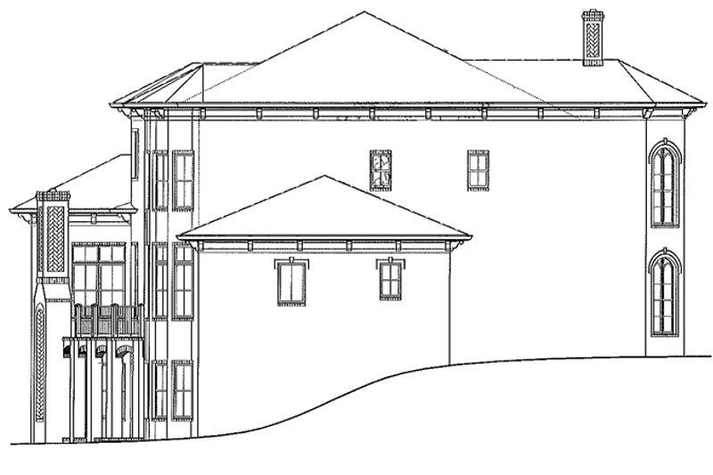 Mediterranean Exterior - Other Elevation Plan #54-284 - Houseplans.com