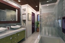House Design - Contemporary Interior - Master Bathroom Plan #484-12