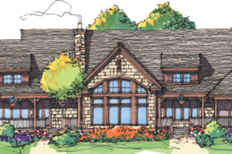Craftsman Exterior - Rear Elevation Plan #929-898 - Houseplans.com