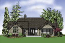 House Design - Traditional Exterior - Rear Elevation Plan #48-859