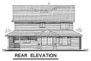 Victorian Style House Plan - 5 Beds 2.5 Baths 2650 Sq/Ft Plan #18-245 Exterior - Rear Elevation