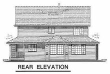 Victorian Exterior - Rear Elevation Plan #18-245