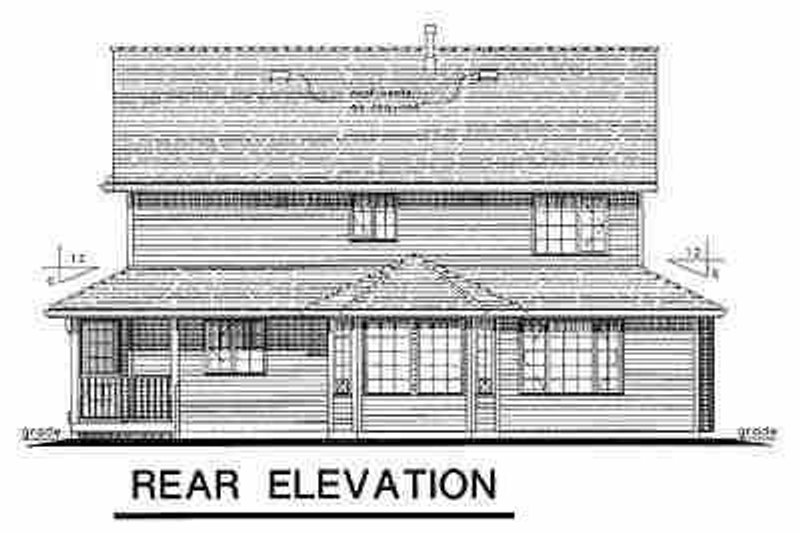 Victorian Exterior - Rear Elevation Plan #18-245 - Houseplans.com