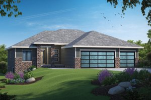 Contemporary Exterior - Front Elevation Plan #20-2484