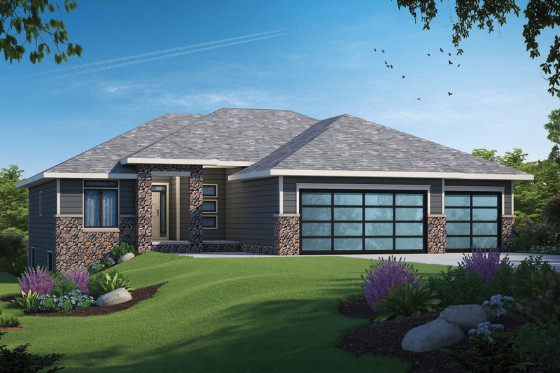 Architectural House Design - Contemporary Exterior - Front Elevation Plan #20-2484