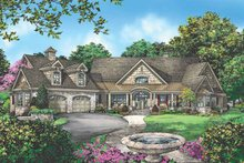 Craftsman Exterior - Front Elevation Plan #929-889