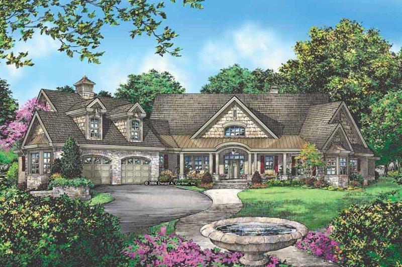 Craftsman Exterior - Front Elevation Plan #929-889