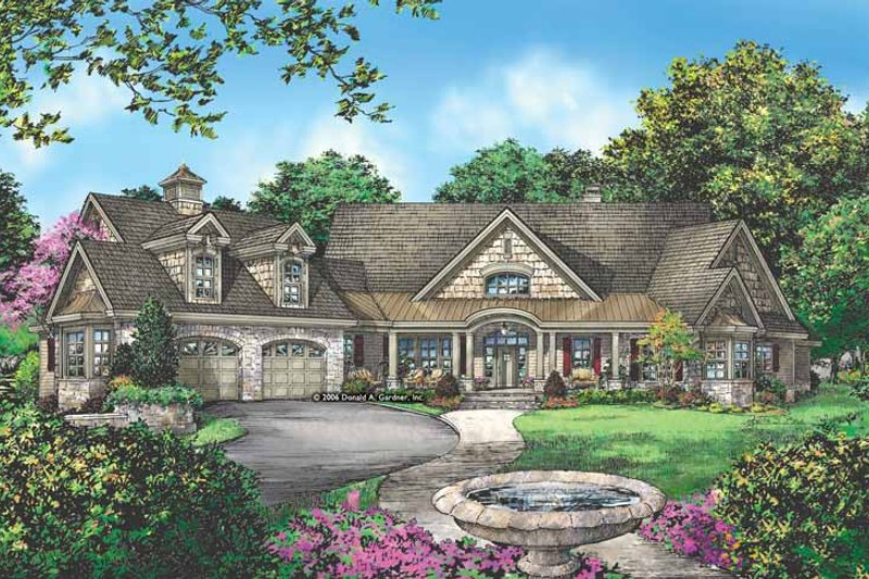Dream House Plan - Craftsman Exterior - Front Elevation Plan #929-889