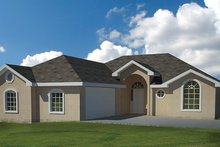 Home Plan - Adobe / Southwestern Exterior - Front Elevation Plan #1061-19