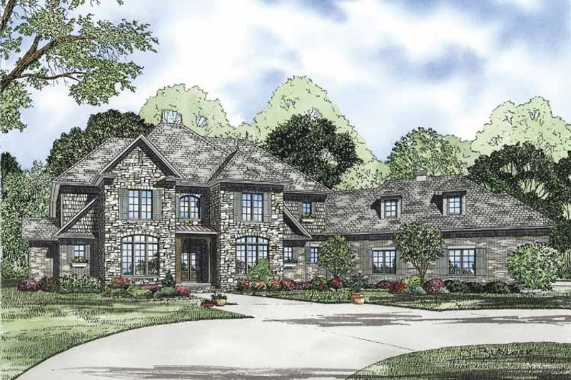 European Exterior - Front Elevation Plan #17-3328