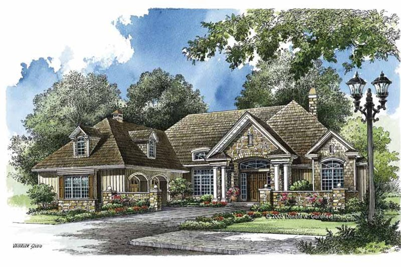 Country Exterior - Front Elevation Plan #929-759