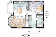 Country Style House Plan - 3 Beds 2 Baths 1534 Sq/Ft Plan #23-2372 Floor Plan - Main Floor Plan