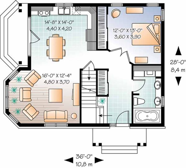 Country Floor Plan - Main Floor Plan Plan #23-2372