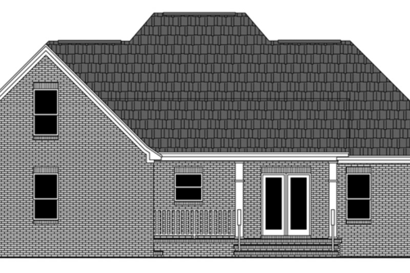 Traditional Exterior - Rear Elevation Plan #21-430 - Houseplans.com