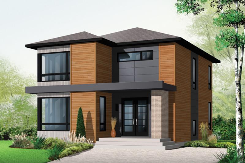 Contemporary Exterior - Front Elevation Plan #23-2554 - Houseplans.com
