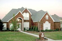 Home Plan - Tudor Exterior - Front Elevation Plan #84-733