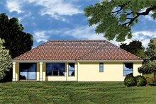 Dream House Plan - Contemporary Exterior - Rear Elevation Plan #1015-9