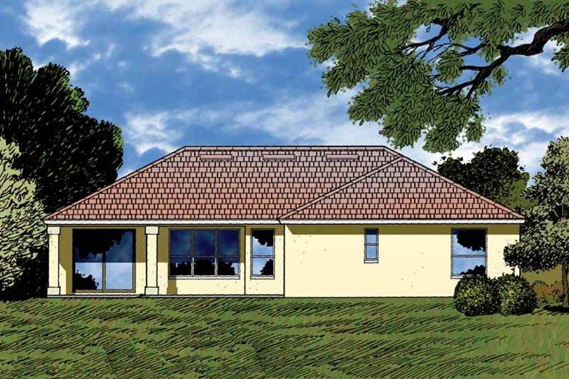 Contemporary Exterior - Rear Elevation Plan #1015-9 - Houseplans.com