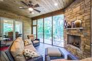 Ranch Style House Plan - 5 Beds 3.5 Baths 4406 Sq/Ft Plan #70-1502 Exterior - Covered Porch
