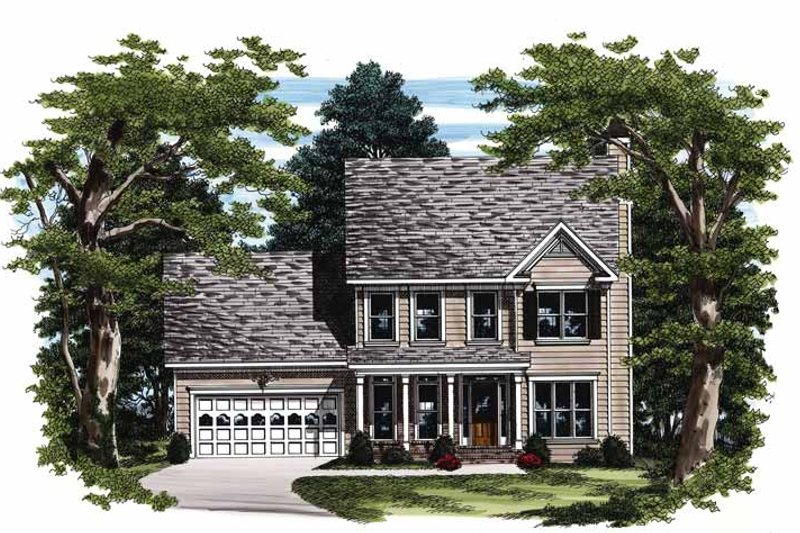 Home Plan - Colonial Exterior - Front Elevation Plan #927-220