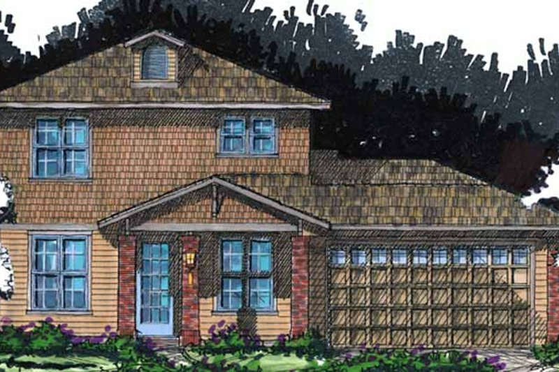 Country Exterior - Front Elevation Plan #1007-22