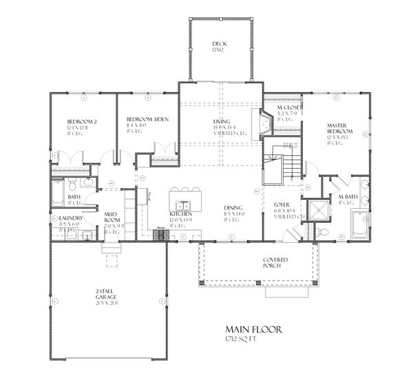 Ranch Floor Plan - Main Floor Plan Plan #901-63