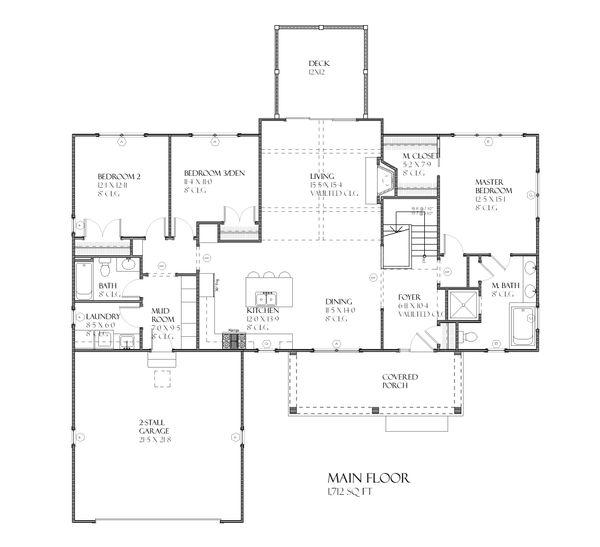 Ranch Floor Plan - Main Floor Plan Plan #901-63