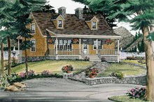 Country Exterior - Front Elevation Plan #314-197