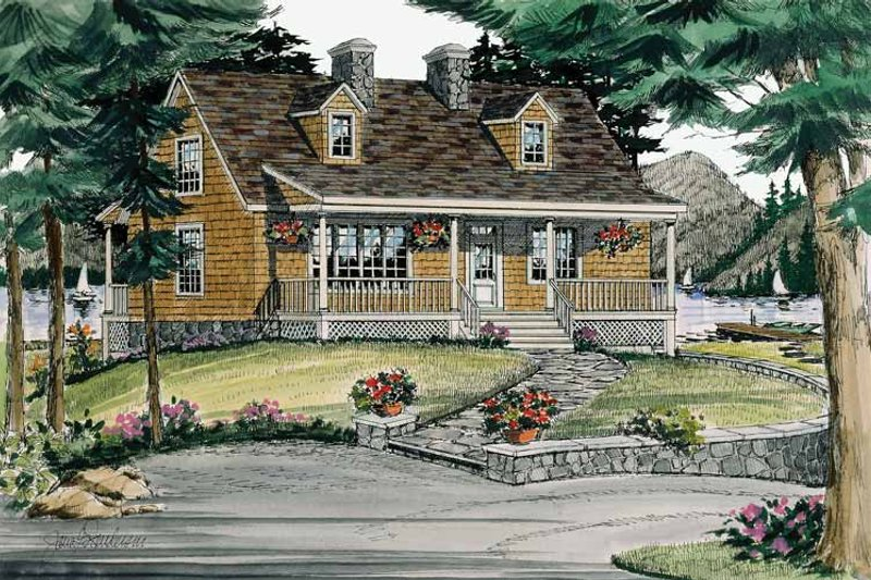 Dream House Plan - Country Exterior - Front Elevation Plan #314-197