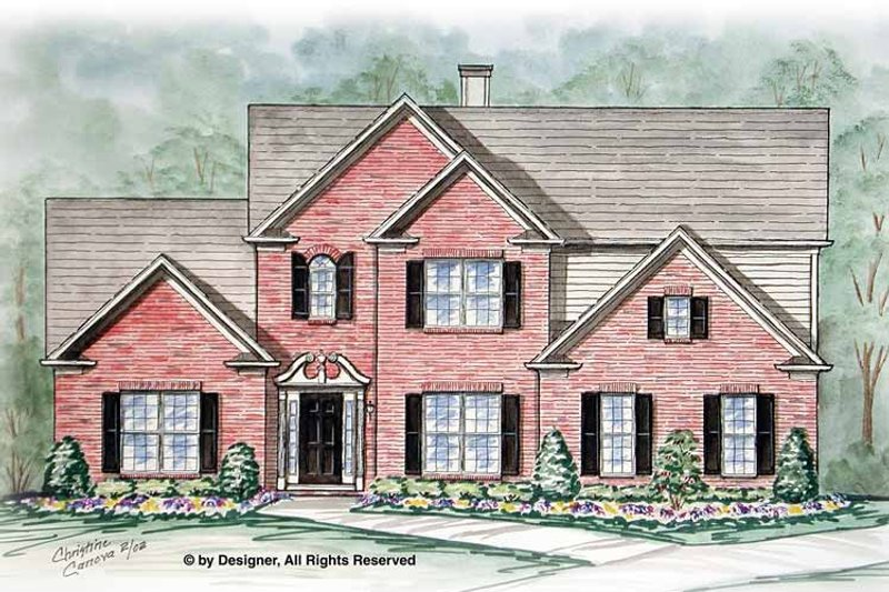 Traditional Exterior - Front Elevation Plan #54-355 - Houseplans.com