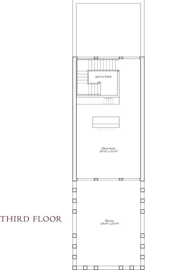Third level floor plan - 16000 square foot Mediterranean Home
