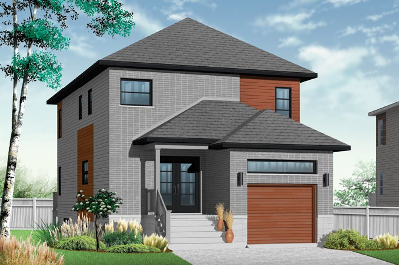 Contemporary Exterior - Front Elevation Plan #23-2482