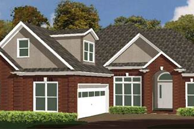 Traditional Style House Plan - 4 Beds 2.5 Baths 1918 Sq/Ft Plan #63-141 Exterior - Front Elevation