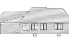 Country Exterior - Rear Elevation Plan #46-821