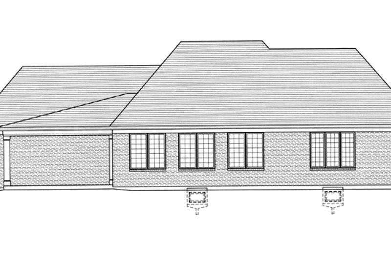 Country Exterior - Rear Elevation Plan #46-821 - Houseplans.com