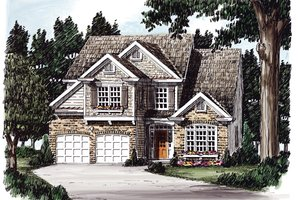 Traditional Exterior - Front Elevation Plan #927-579