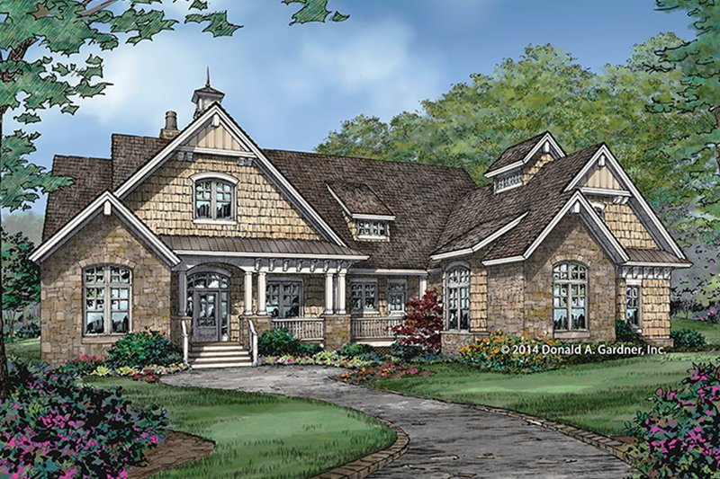Craftsman Exterior - Front Elevation Plan #929-988 - Houseplans.com
