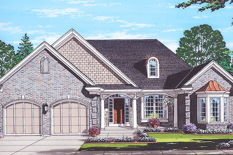 Colonial Exterior - Front Elevation Plan #46-866 - Houseplans.com