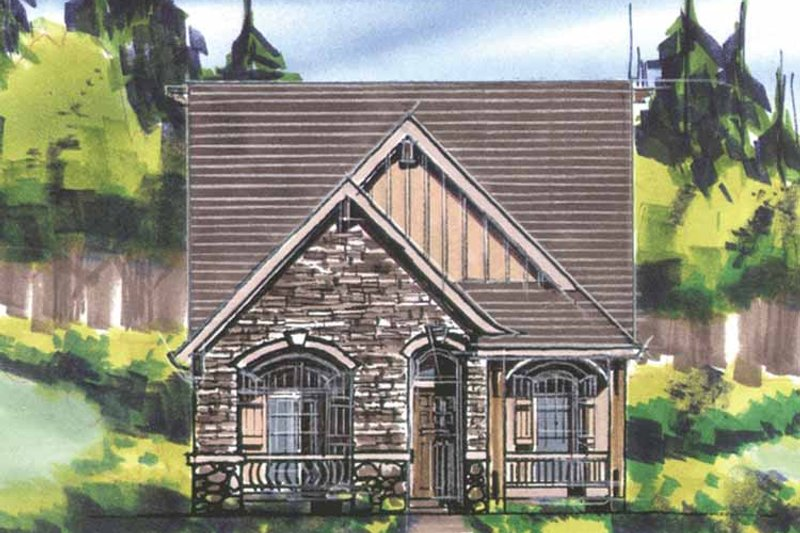 Traditional Exterior - Front Elevation Plan #509-192