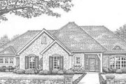 European Style House Plan - 3 Beds 2 Baths 1844 Sq/Ft Plan #310-298 Exterior - Front Elevation