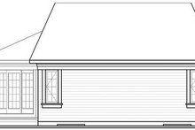 Home Plan - Traditional Exterior - Rear Elevation Plan #23-696