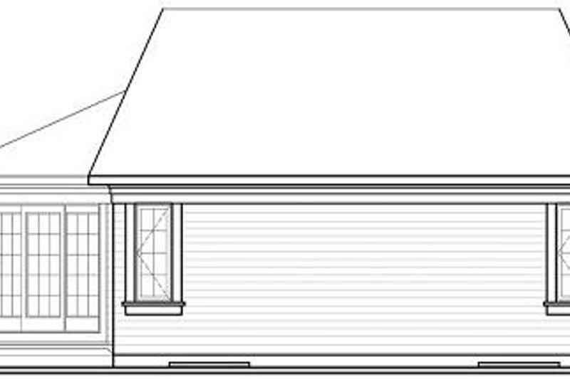 Traditional Exterior - Rear Elevation Plan #23-696 - Houseplans.com