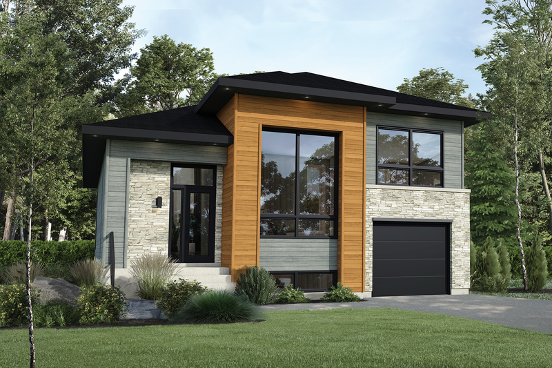 Home Plan - Contemporary Exterior - Front Elevation Plan #25-4881