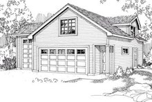 House Plan Design - Traditional Exterior - Front Elevation Plan #124-641