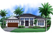 European Style House Plan - 3 Beds 3 Baths 2526 Sq/Ft Plan #27-457 Exterior - Front Elevation
