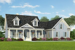 Country Exterior - Front Elevation Plan #929-393