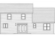 Craftsman Exterior - Rear Elevation Plan #46-494