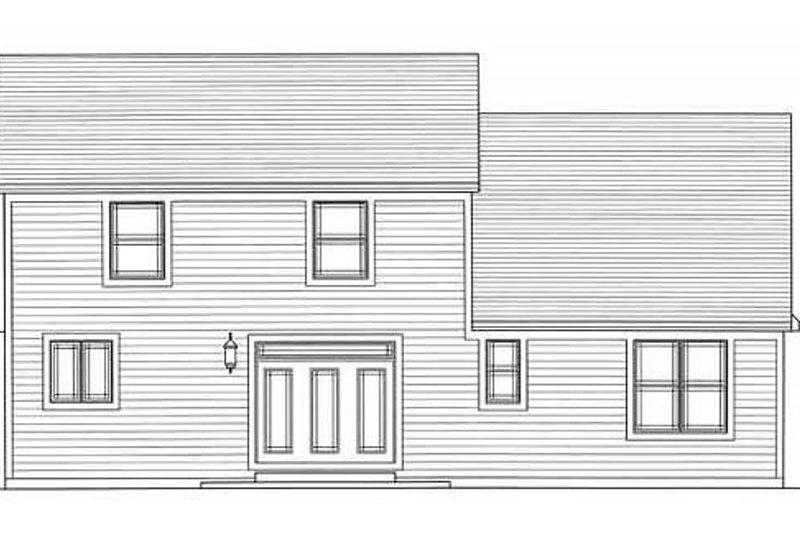 Craftsman Exterior - Rear Elevation Plan #46-494 - Houseplans.com